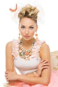 Medium length bridal hairstyle Monaco Salon Tampa
