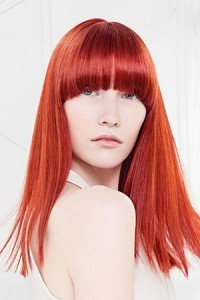 Golden light red hair color Tampa hair Salon