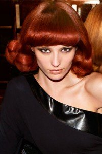Dark ruby red hair color Tampa Hair Salon