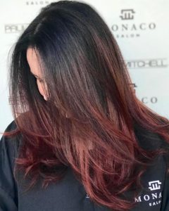 autumn balayage red hair monaco tampa