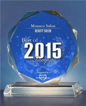 Monaco Salon Best of Tampa 2015 Award