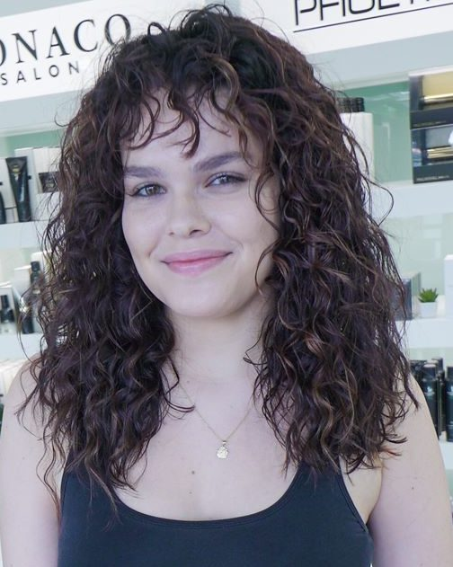 curly hairstyles after monaco salon tampa
