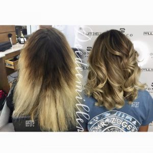 hair color correction by deedee Monaco Salon Tampa