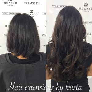 hair extensions by krista Monaco Salon Tampa