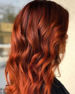 Pumpkin Spice Hair Color