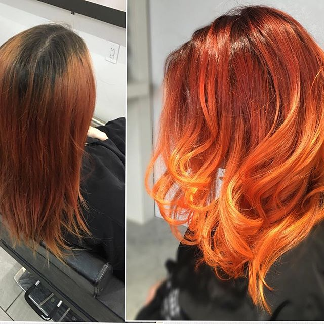 Hair Color Correction Before and After Pictures