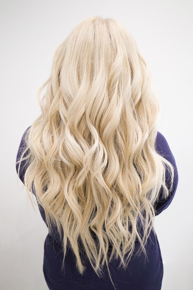 blonde hand tied hair extensions tampa florida 1
