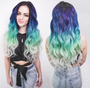 vivid blue green ombre hair tampa