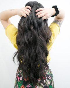brunette tape in hair extensions monaco salon by zach