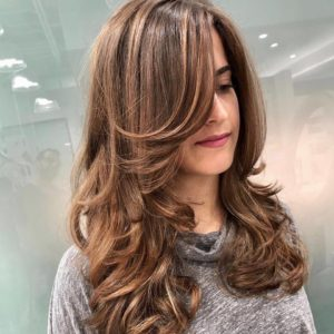 hairstyle with long layers monaco salon tampa