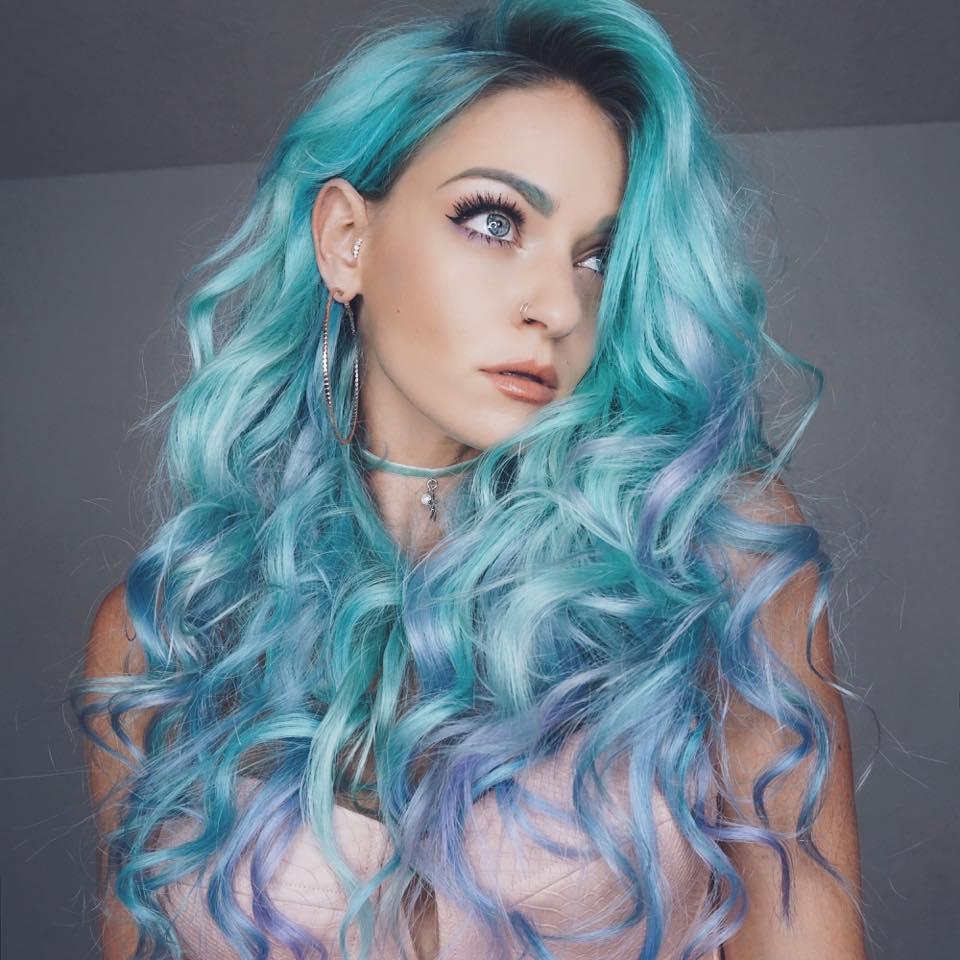 vivid mermaid hair color monaco salon tampa