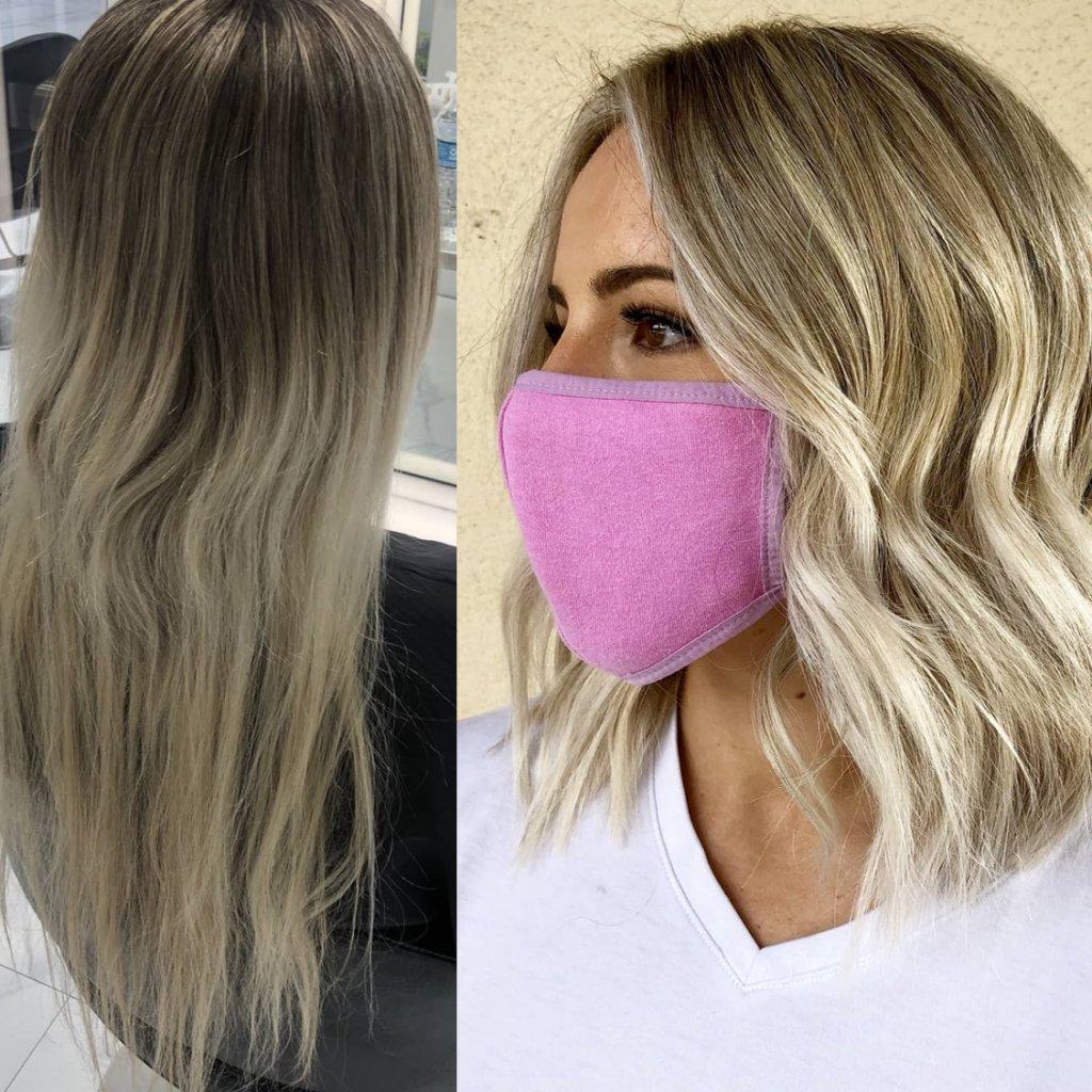 haircut and color transformation monaco