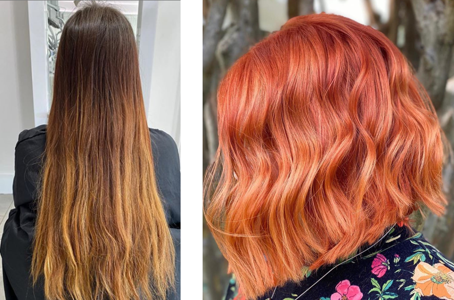 firey hair color makeover