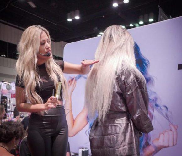krista abad national educator hair extensions Monaco Salon