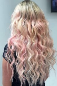 pastel ombre hair Monaco Hair Extensions Salon Tampa St Pete
