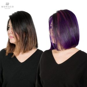 haircut and hair color side Monaco Salon Tampa