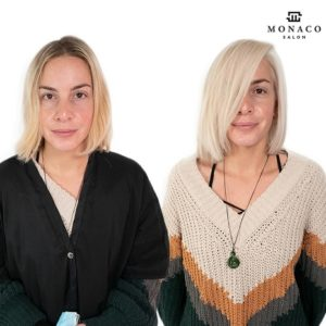 blonding with hair extensions tampamonaco salon