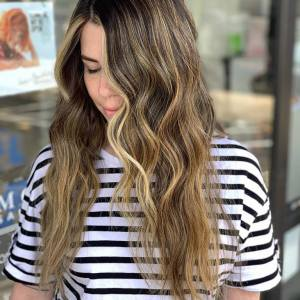 hand-painted-highlights-brunette-tampa